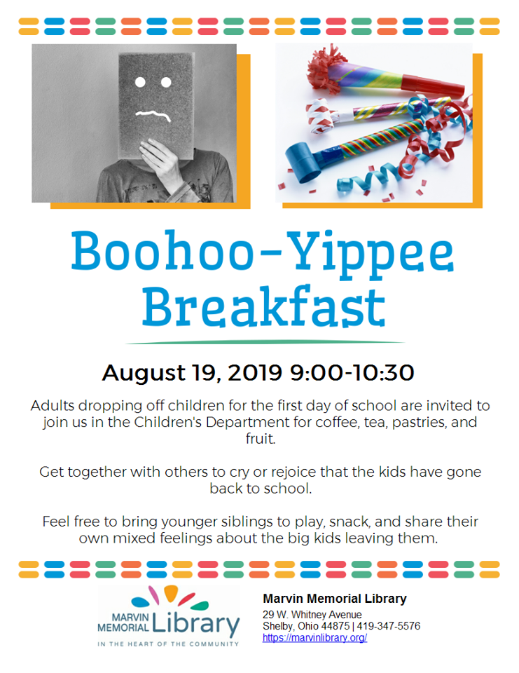Boohoo-Yippee Breakfast @ Marvin Memorial Library