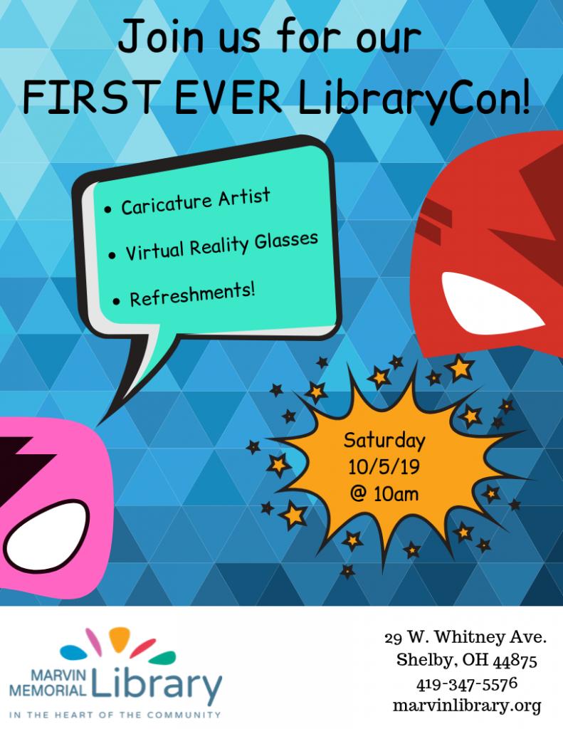 LibraryCon @ Marvin Memorial Library