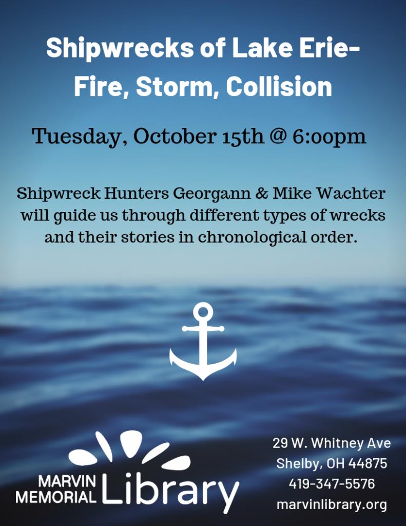 Shipwrecks of Lake Erie @ Marvin Memorial Library