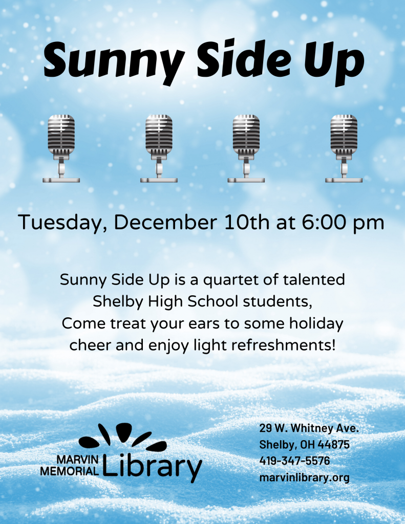 Sunny Side Up: SHS Quartet @ Marvin Memorial Library