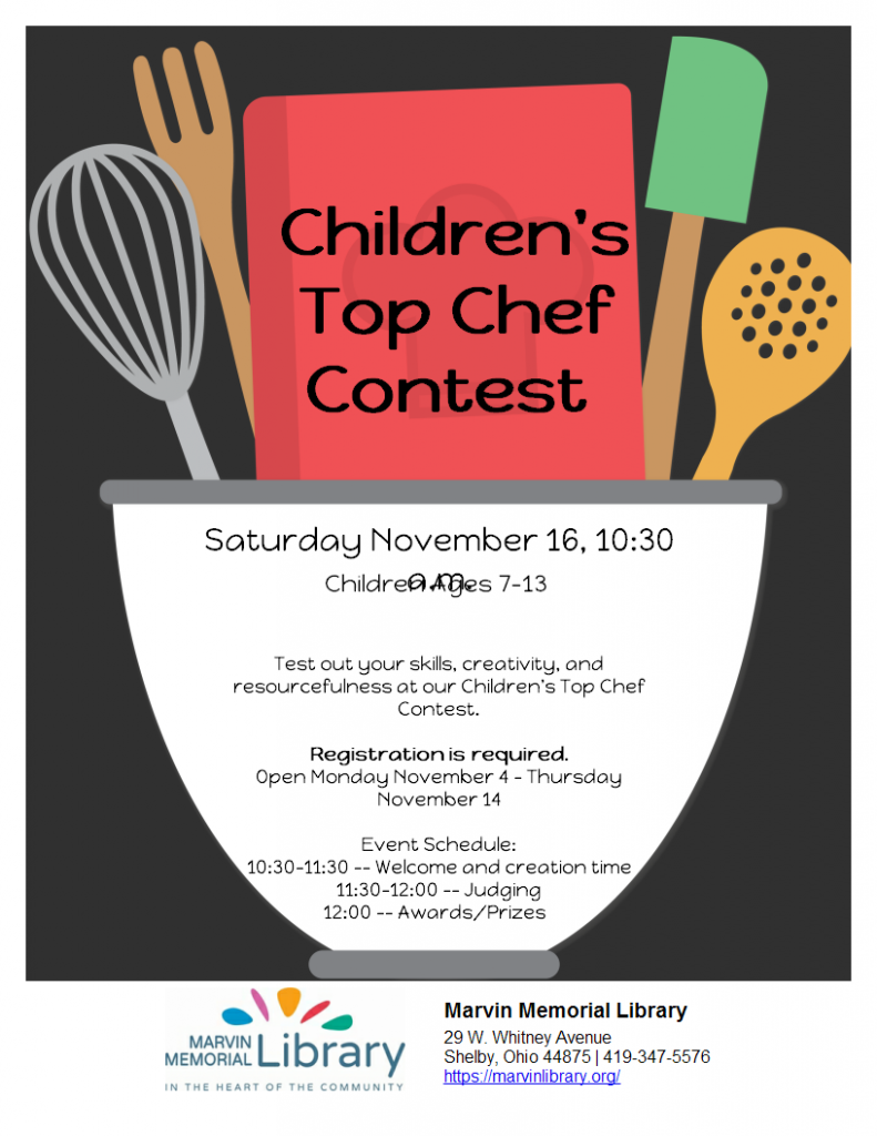 Children's Top Chef @ Marvin Memorial Library