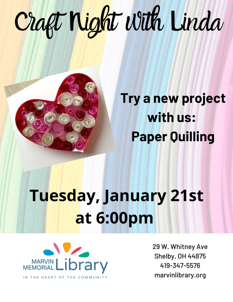 Craft Night with Linda @ Marvin Memorial Library
