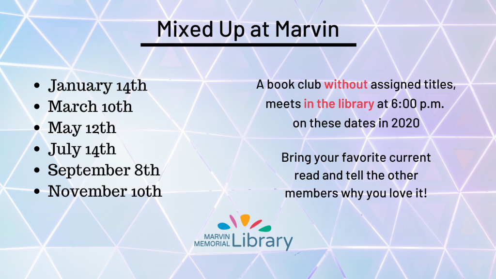 Mixed Up at Marvin @ Marvin Memorial Library