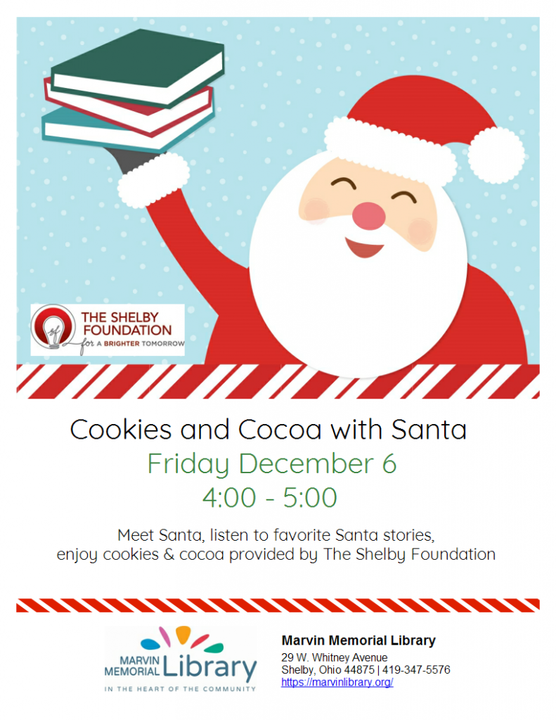 Cookies & Cocoa with Santa @ Marvin Memorial Library