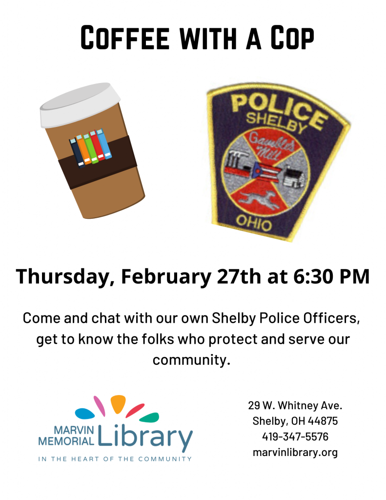 Coffee with a Cop @ Marvin Memorial Library